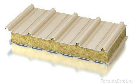Сэндвич-панели из минеральной ваты
